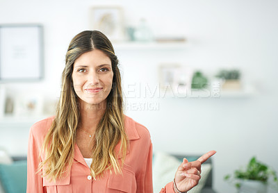 Buy stock photo Portrait of a woman smiling at the camera
