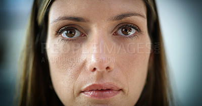 Buy stock photo Cropped portrait of a middle aged woman