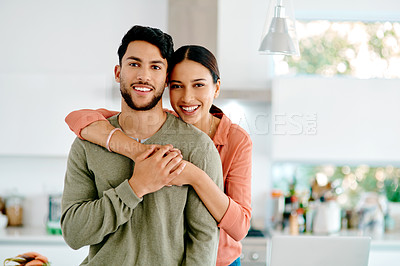 Buy stock photo Cropped shot of an affectionate couple looking at the camera