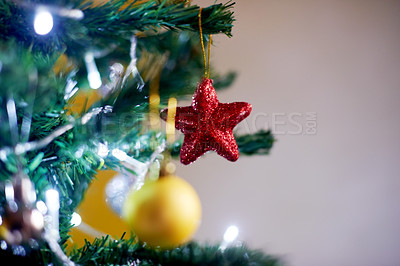 Buy stock photo Shot of a decorated Christmas tree