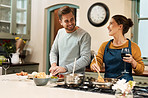 Cooking together always seasons their love