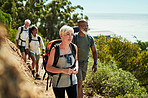 Hiking keeps us all healthy and positive
