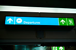 Departures are this way