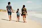 Weekends are for walks on the beach with family