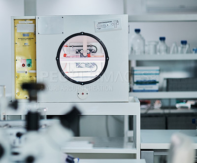 Buy stock photo Still life shot of an incubator in a laboratory
