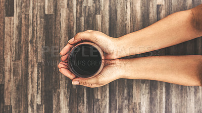 Buy stock photo Cropped shot of an unrecognizable woman holding a glass of wine