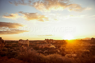 Buy stock photo Shot of an area of deserted land