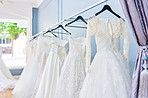 We have a variety of wedding dresses