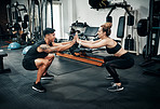 We raise our pain  threshold when working out together