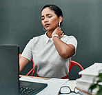 Working at a desk is a common cause of back and neck pain