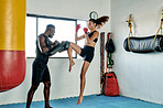 Her kickboxing techniques are only getting better