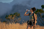 Nothing tastes better than water after a long hike