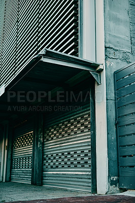 Buy stock photo Shot of a gated building in an urban business district