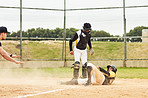 Sliding to base is what he does best