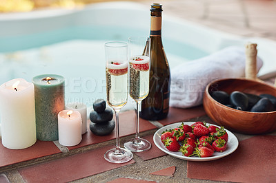 Nothing beats strawberries and champagne