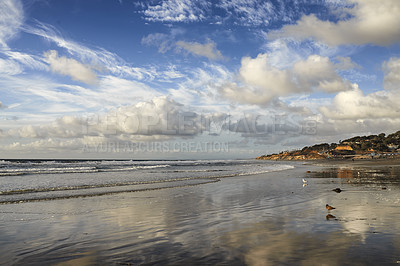 Buy stock photo The beach of Torrey Pines, San Diego, California