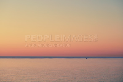 Buy stock photo Calm sea after sunset