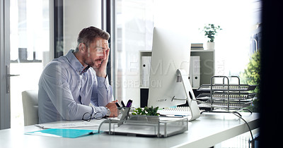 Buy stock photo Shot of businesspeople at work in their office