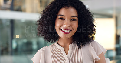 Buy stock photo Portrait of a young businesswoman in an office