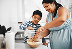 Kids can learn many skills by baking with parents