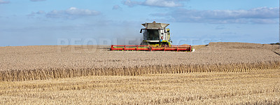 Buy stock photo Farmland ready for harvesting