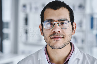 Buy stock photo Portrait of a young scientists working in a lab