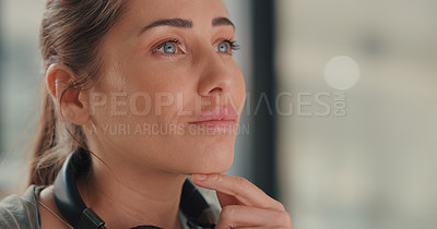 Buy stock photo Shot of a young designer working in an office