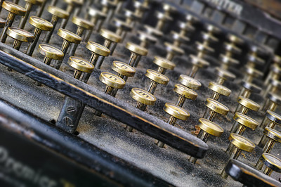 Buy stock photo A very old typewriter