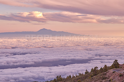 Buy stock photo Tenerife is the largest of Spain's Canary Islands, off West Africa. It's dominated by Mt. Teide, a dormant volcano that is Spain's tallest peak. Tenerife may be best known for its Carnaval de Santa Cruz, a huge pre-Lent festival with parades, music, dancing and colorful costumes. The island has many beaches (with sands from yellow to black) and resort areas, including Los Cristianos and Playa de las Américas.