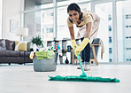 You won't find a domestic goddess's home with dirty floors