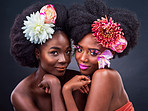 Feeling even more confident with flowers in our hair