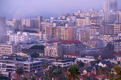 Buy stock photo Cape Town - a view from Signal Hill, South Africa