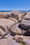 Rocky coastline of the Camp´s Bay, Western Cape