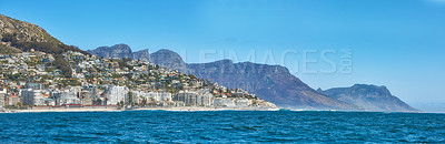 Buy stock photo Sea Point and the Twelve Apostles,  Table Mountain National Park, Cape Town, South Africa