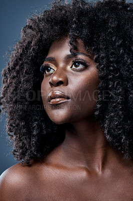 Buy stock photo Studio shot of a beautiful young woman with glowing skin