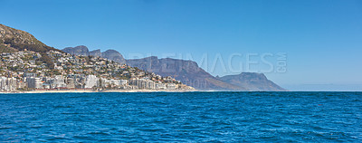 Buy stock photo Sea Pont and theTwelve Apostles,  Table Mountain National Park, Cape Town, South Africa