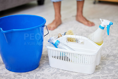 Buy stock photo Shot of an unrecognizable person doing chores at home
