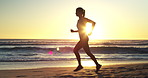 Jogging on the beach is perfect for challenging your body