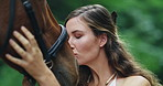 When a horse trusts you he loves you