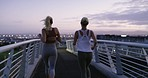 Exercising together makes the journey more enjoyable