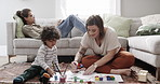 Working with a brush helps kids develop fine motor skills