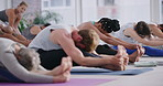 Yoga poses stretch your muscles and increase your range of motion